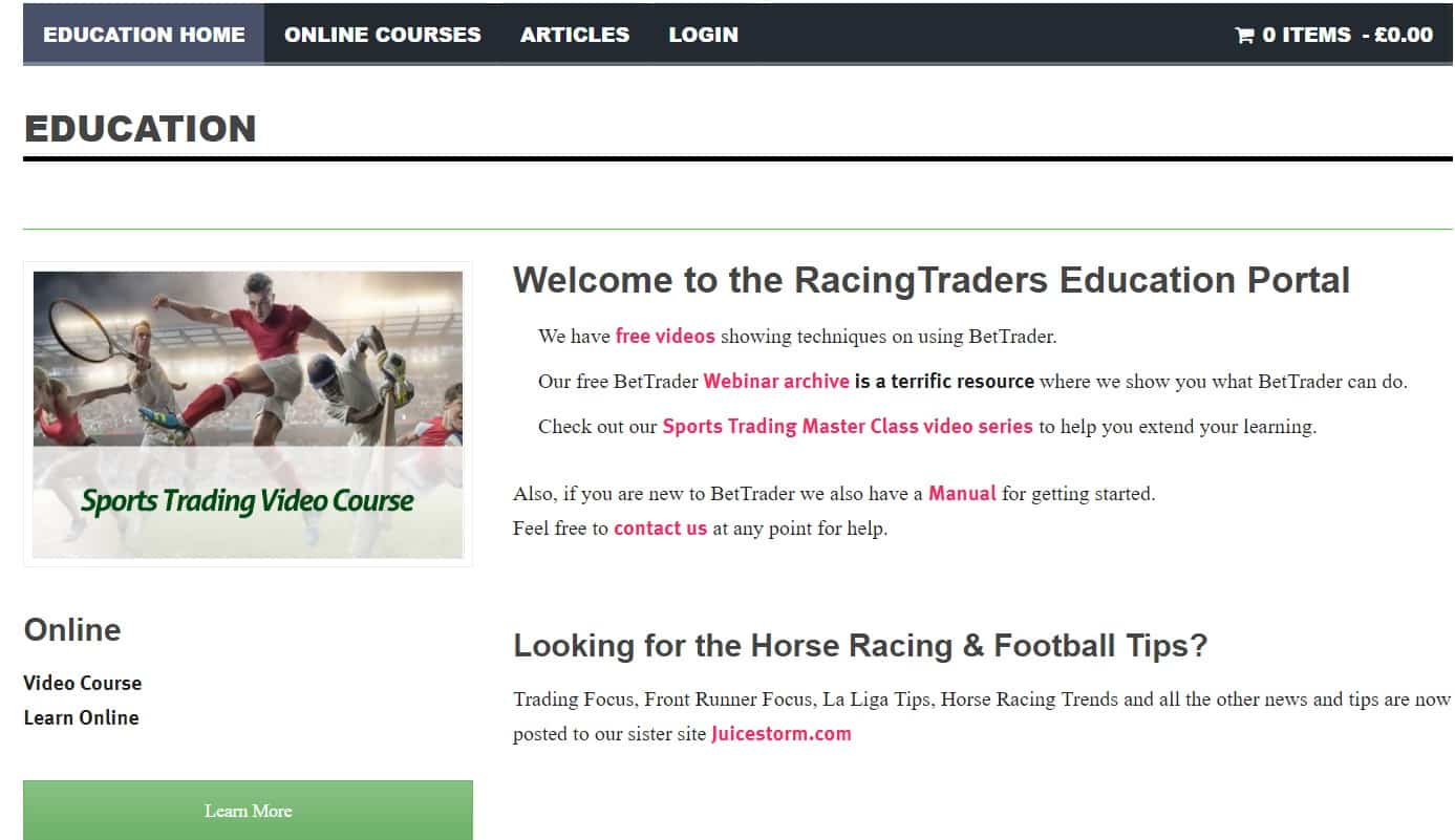 Racing Traders Education